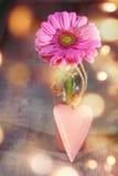 Flor com coração para o dia de mães Imagem de Stock