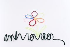 Flor con los pétalos multicolores Foto de archivo libre de regalías