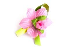 Flor cor-de-rosa artificial imagens de stock royalty free