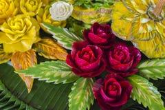 Flor cor-de-rosa artificial do ` s de Tailândia Fotografia de Stock