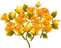 Flor cor-de-rosa do amarelo ilustração royalty free