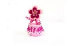 Flor cor-de-rosa do brinquedo imagem de stock royalty free