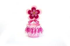 Flor cor-de-rosa do brinquedo foto de stock