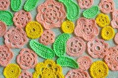 Flor Crocheted Fotos de archivo