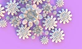 Flor 3d colorida Foto de Stock