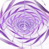 Flor 3d de brilho abstrata no fundo branco Imagem de Stock