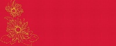 Flor da bandeira imagem de stock