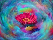 Flor da cor ilustração stock