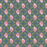 A flor da cor de água do borrão, desvaneceu o fundo sem emenda foto de stock royalty free