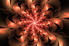 Flor da fantasia do Fractal Imagem de Stock Royalty Free
