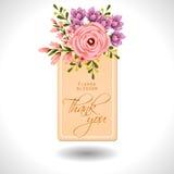 Flor da flor Convite botânico romântico ilustração royalty free