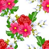 Flor da flor Teste padrão botânico romântico ilustração royalty free