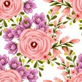 Flor da flor Teste padrão sem emenda da elegância abstrata Imagem de Stock Royalty Free