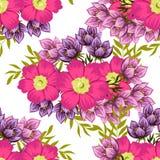 Flor da flor Teste padrão sem emenda da elegância abstrata Imagens de Stock