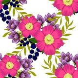 Flor da flor Teste padrão sem emenda da elegância abstrata ilustração royalty free