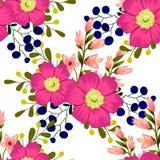 Flor da flor Teste padrão sem emenda da elegância abstrata ilustração stock