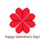 Flor da forma do coração Fotografia de Stock Royalty Free