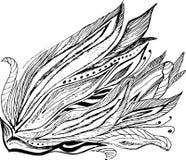 Flor da garatuja de Abcstact ilustração royalty free