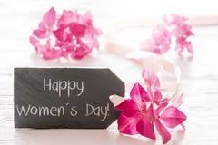 Flor da hortênsia, o dia das mulheres felizes Foto de Stock Royalty Free