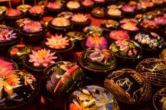 flor da Lagniappe-lembrança na caixa Fotografia de Stock Royalty Free
