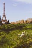 Flor da mola da torre Eiffel Imagem de Stock