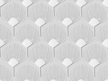 flor da natureza da forma do fã da arte do Livro 3D Branco Imagem de Stock