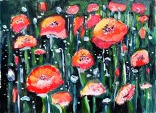 Flor da pintura a óleo Foto de Stock