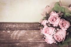 Flor da rosa do rosa do vintage imagem de stock