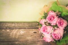Flor da rosa do rosa do vintage imagens de stock royalty free