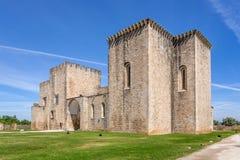 Flor da Rosa Monastery i Crato Tillhörde de Hospitaller riddarna Royaltyfri Foto