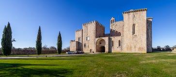 Flor da Rosa Monastery i Crato Tillhörde de Hospitaller riddarna Royaltyfria Foton