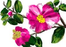 Flor da tração da mão Imagens de Stock