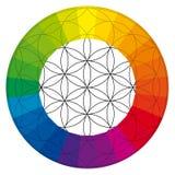 Flor da vida, ilustração do chakra do buddhism ilustração stock