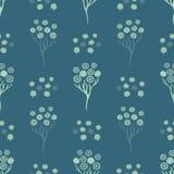 Flor Daisy Bouquet Seamless Vetora Pattern da mola M?o tirada por todo o lado em floral ilustração stock