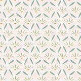 Flor Daisy Stripes Seamless Vetora Pattern da mola M?o tirada por todo o lado em floral ilustração stock