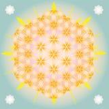 Flor de brilho da vida ilustração stock