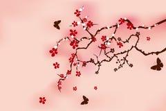 Flor de cereja tradicional japonesa ilustração stock
