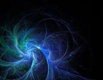Flor de cristal azul do Fractal em um fundo preto Foto de Stock