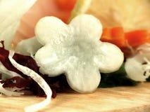 Flor de Daikon Foto de archivo libre de regalías