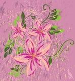 Flor de Grunge Fotos de Stock Royalty Free