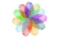 Flor de huellas dactilares ilustración del vector