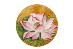 Flor de lótus bonita ilustração stock