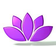 Flor de lótus roxa 3D Fotografia de Stock