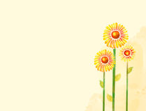 Flor de la acuarela Foto de archivo