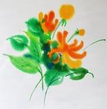 Flor de la acuarela Fotografía de archivo libre de regalías