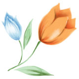 Flor 002 de la acuarela stock de ilustración