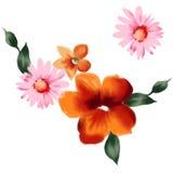 Flor 001 de la acuarela stock de ilustración