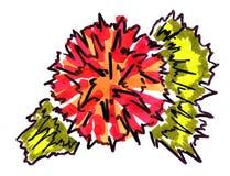 Flor de la acuarela del dibujo Foto de archivo libre de regalías