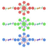 Flor de la arpillera ilustración del vector