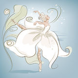 Flor de la bailarina imagen de archivo
